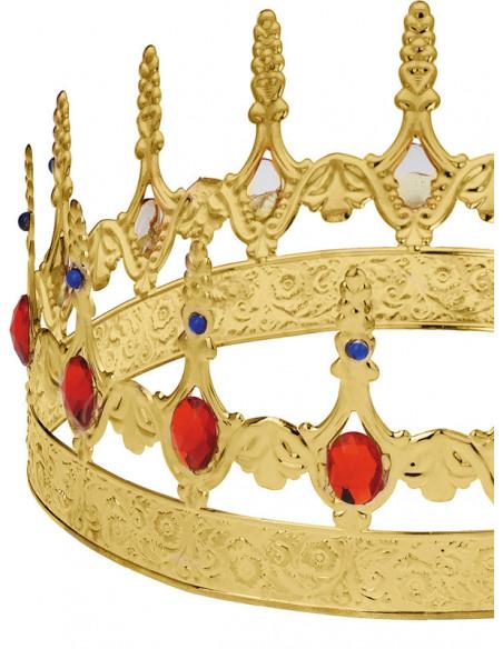Corona rey metal detalle