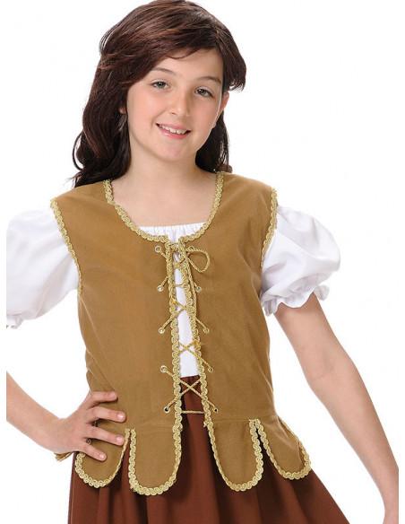 Disfraz tabernera niña cerca