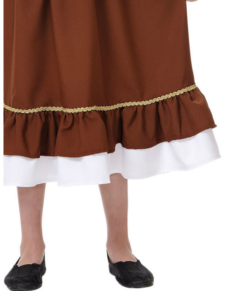 Disfraz tabernera niña falda