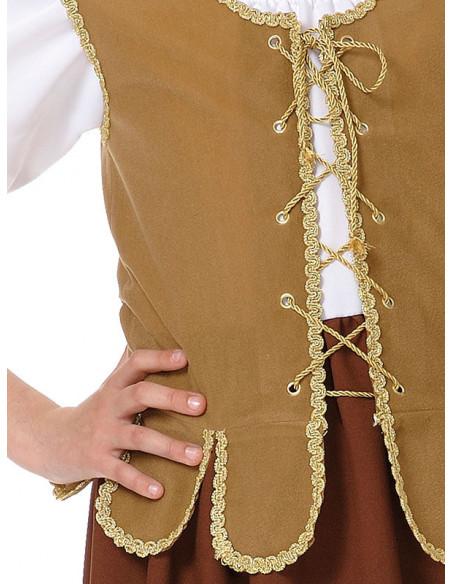 Disfraz tabernera niña detalle chaleco