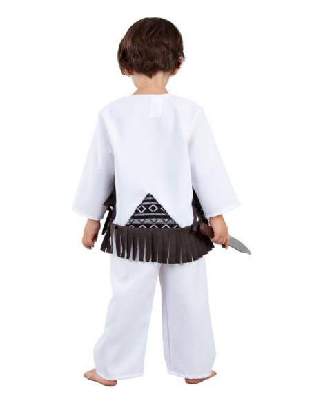 Disfraz indio cherokee para bebé espalda