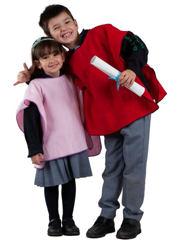 Poncho para el colegio infantil