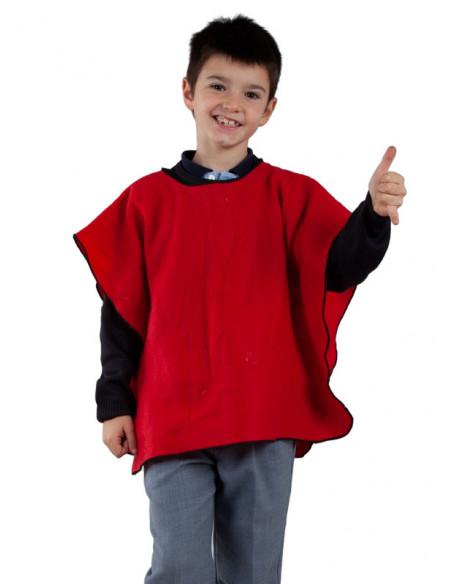 Poncho para el colegio infantil rojo