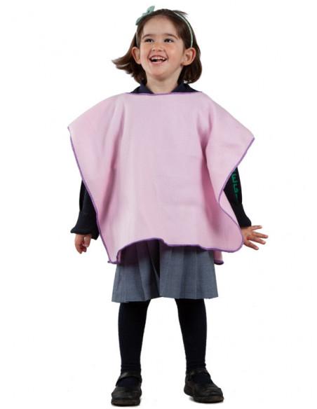 Poncho para el colegio infantil rosa