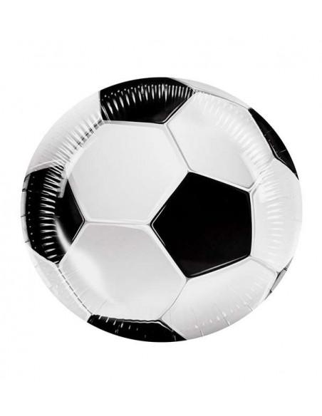Decoración fútbol fiesta temática platos