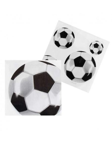 Decoración fútbol fiesta temática servilletas