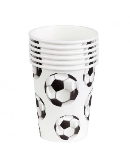 Decoración fútbol fiesta temática vasos