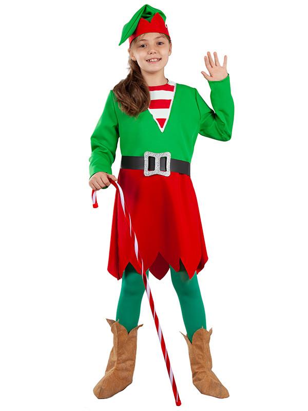 Disfraz de elfa para niña