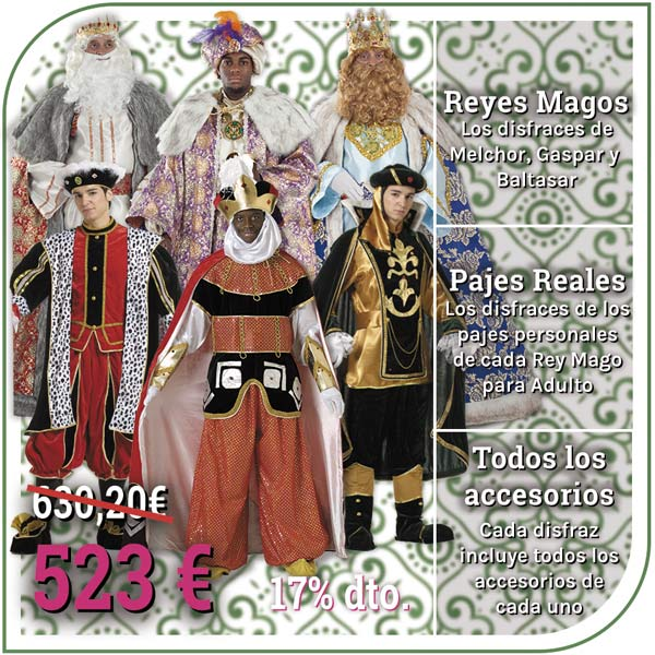 trajes de Reyes magos y pajes