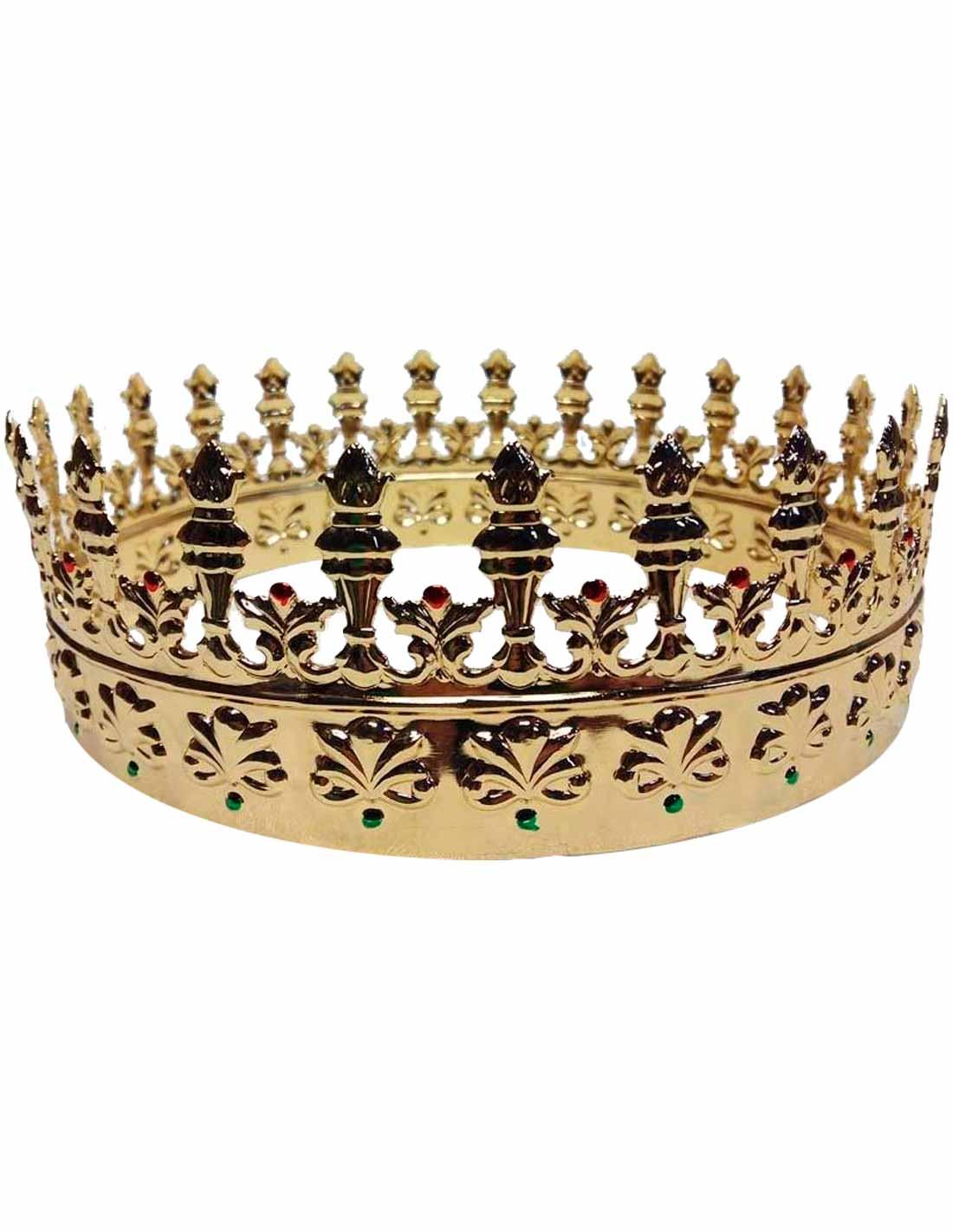 Corona metalica de  rey mago
