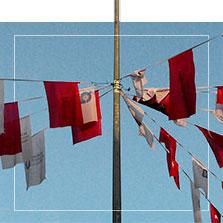 Banderines para decorar calles