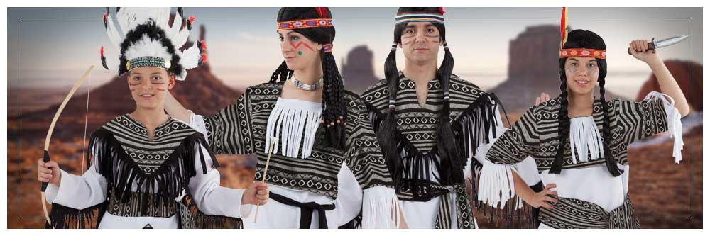 Disfraces en grupo de indios