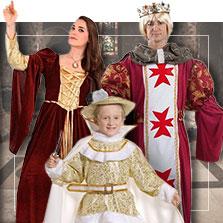 Disfraces medievales en grupo