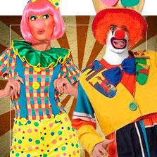 Disfraces en pareja de payasos y circo