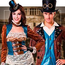 Disfraces en pareja de steampunk